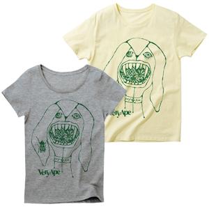 Very Ape × あんびるはるか コラボ「ぬいぐるみかいじゅう」Tシャツ