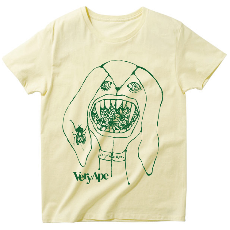 Very Ape × あんびるはるか コラボ「ぬいぐるみかいじゅう」Tシャツ詳細画像